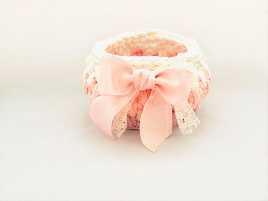 [SOLD OUT]トルコの手編みのバスケット(ピンク)