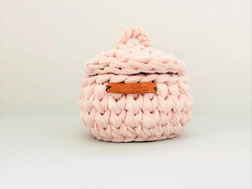 [SOLD OUT]トルコの手編みのミニバスケット(ピンク)