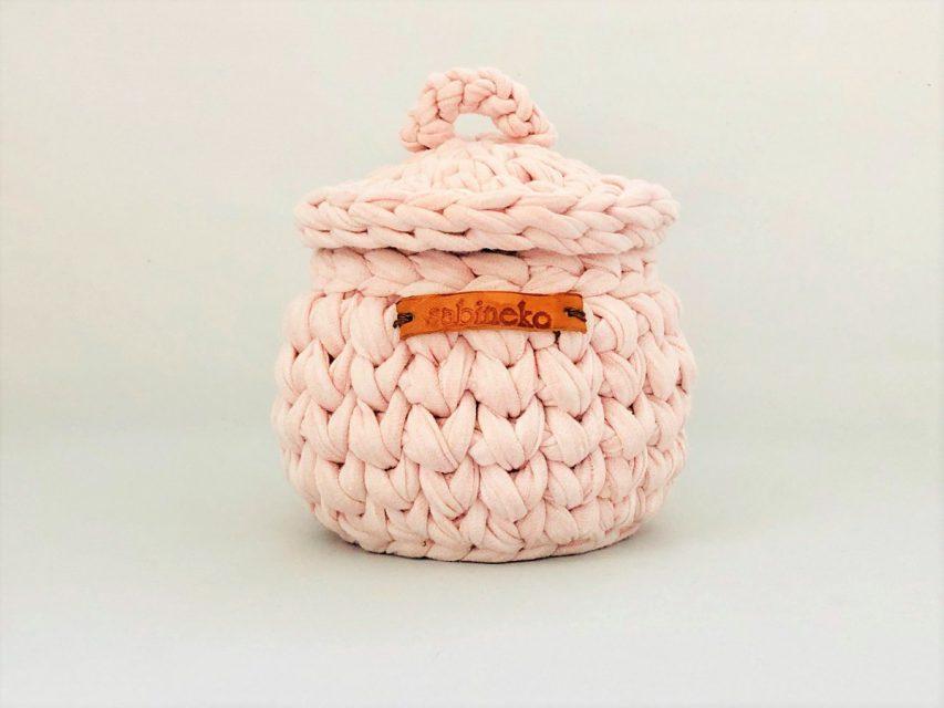 [SOLD OUT] トルコの手編みのミニバスケット(ピンク)