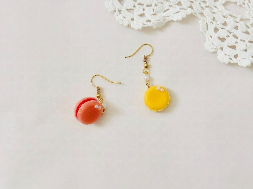 [SOLD OUT] デザートピアス [マカロン]