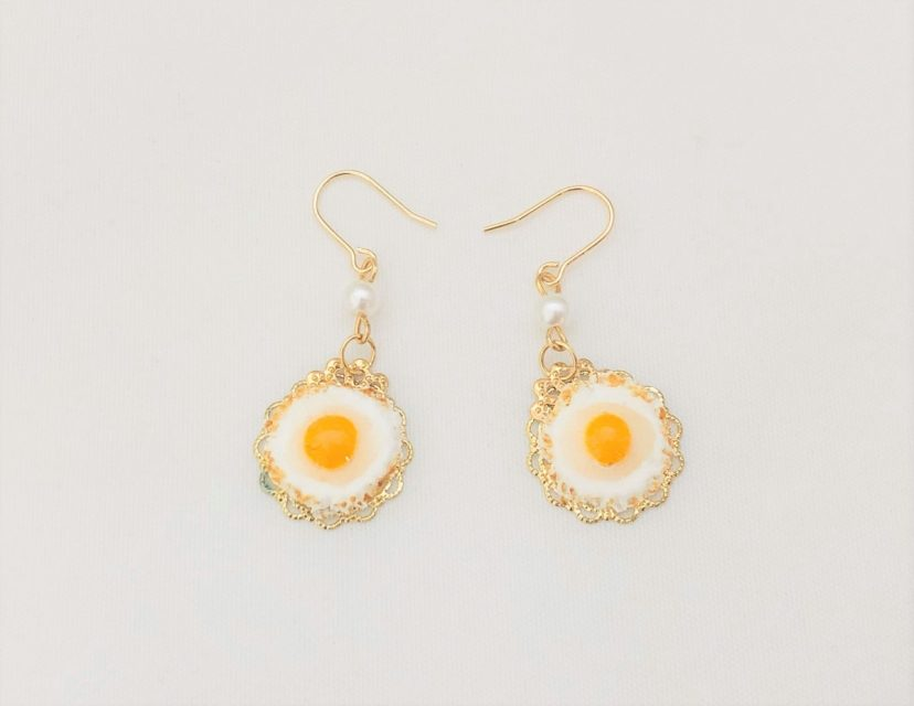 [SOLD OUT] デザートピアス フライドエッグ