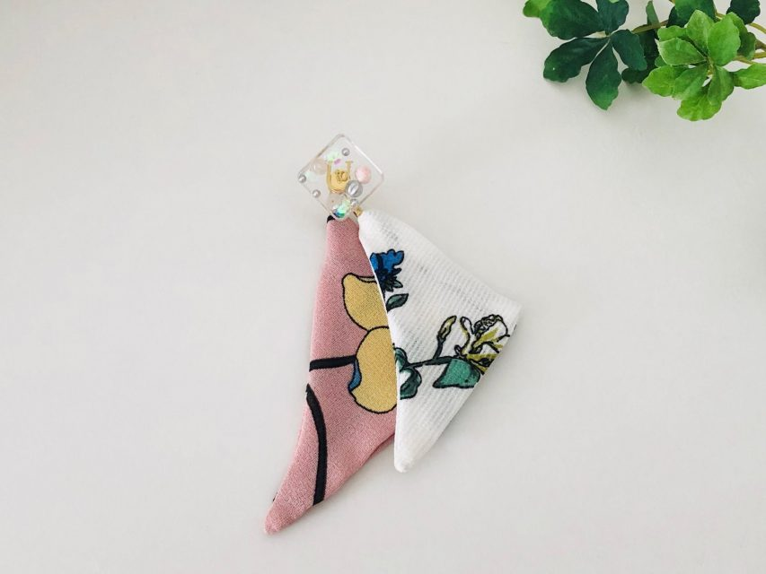 [SOLD OUT] 片耳スカーフ クリアピアス
