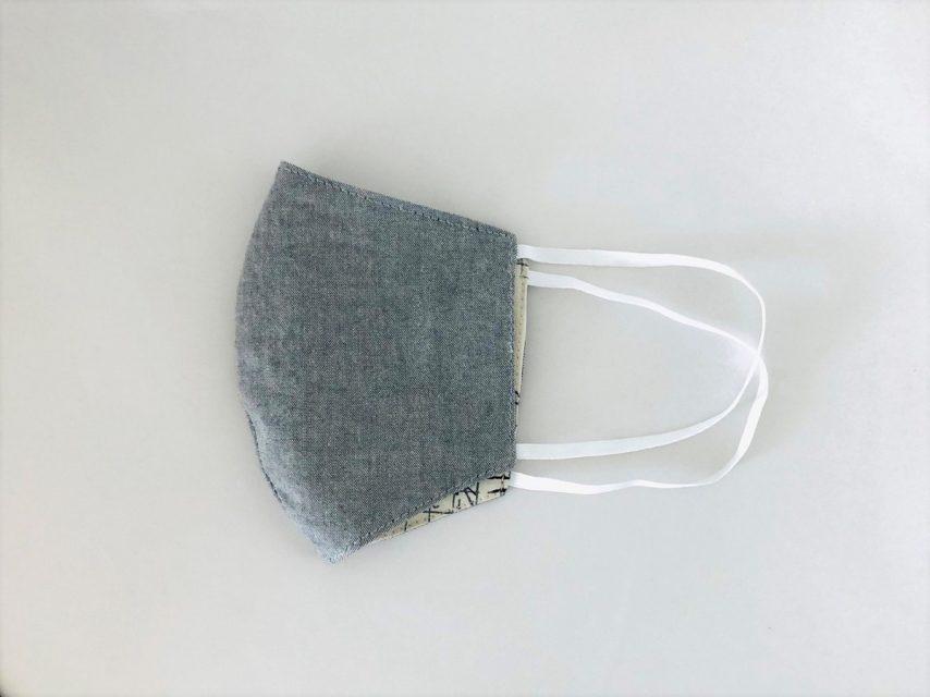 リバーシブル布マスク [ユニセックス/Mサイズ]